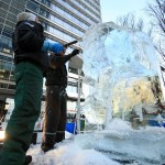 Ice Sculpting Festival in London