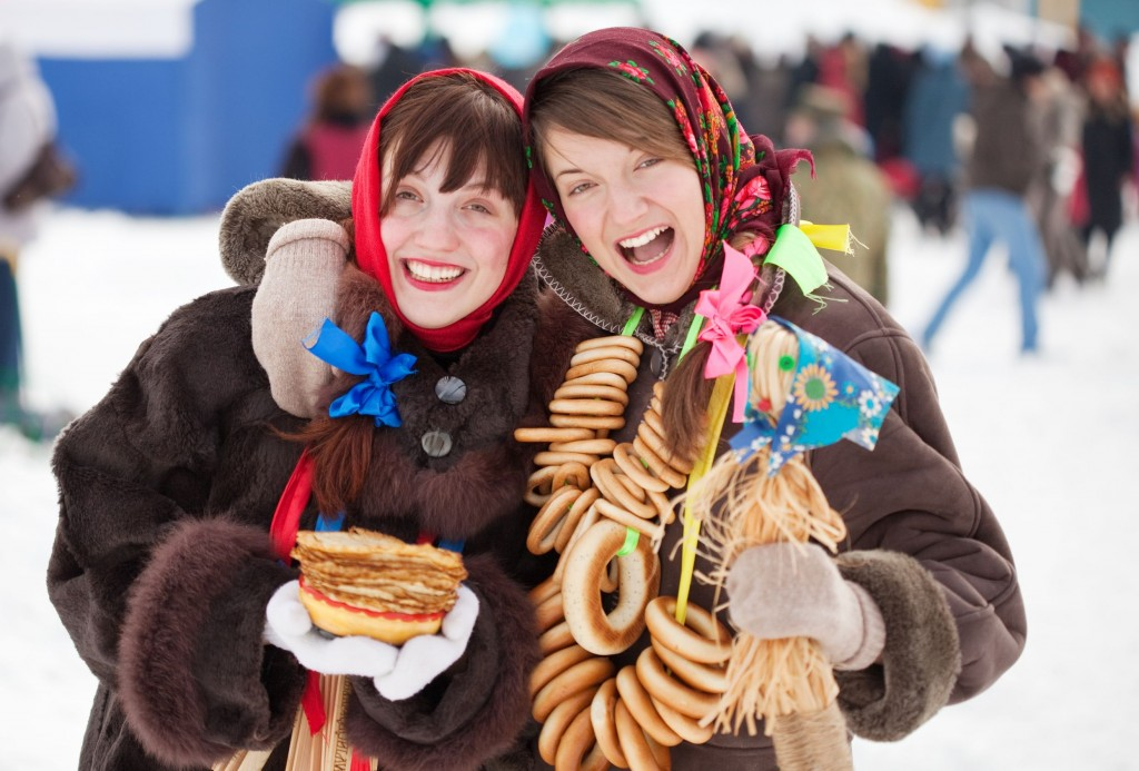 Pancake Festival in Moscow, Russia