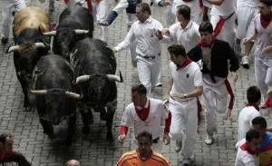 Running of the Bulls in Pamplona Spain1 300x183 Running Of The Bulls (San Fermin Festival) – Pamplona, Spain