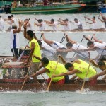 Dragon boat race in Tung Ng Festival in Tuen Mun, Hong Kong